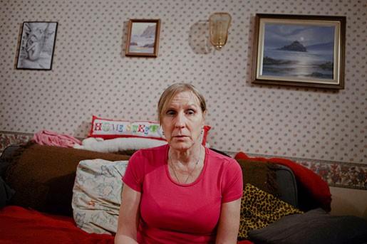 """Bostadsområdet där Jasmin Parsons bor ska bli """"åtråvärt med högkvalitativa hem"""", enligt byggfirman. Själv ser hon hur vanligt folk vräks och tvingas att flytta längre och längre ut. Foto:Åsa Westerlund"""