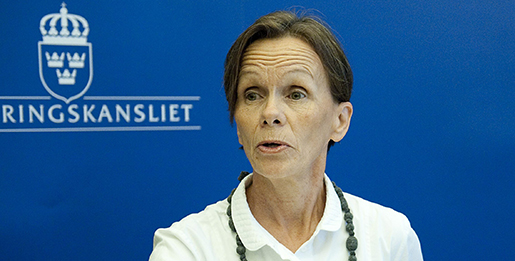 STOCKHOLM 20110623 Integrationsminister Erik Ullenhag presenterar den nya diskrimineringsombudsmannen (DO) Agneta Broberg. Foto: Maja Suslin / SCANPIX / Kod 10300
