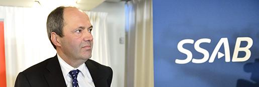 STOCKHOLM 20140122 SSABs vd och koncernchef Martin Lindqvist presenterar att de kˆpt finska stÂlkoncernen Rautaruukki under en presstr‰ff i Stockholm. Foto: Henrik Montgomery / TT / kod: 10060