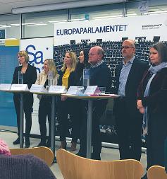 Panelsamtal om den fängslade bloggaren Raif Badawi. Foto: Liv Beckström