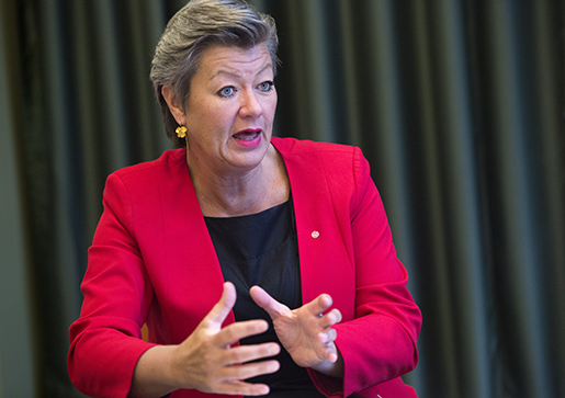 STOCKHOLM 20160122 Arbetsmarknadsminister Ylva Johansson. Foto: Henrik Montgomery / TT / kod 10060
