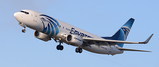 En Boeing 737-800 från flygbolaget Egypt Air. Arkivbild. Foto: Johan Nilsson / SCANPIX