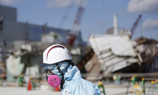 Saneringen fortsätter vid kärnkraftsverket i Fukushima. Foto: Toru Hanai/Pool Photo via AP
