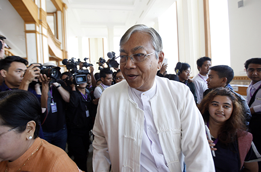 Htin Kyaw. Foto: AP Photo/Aung Shine Oo