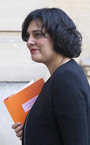 Frankrikes arbetsmarknadsminister Myriam El Khomri. Foto: AP Photo/Jacques Brinon