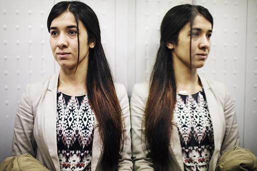 Nadia Murad är en av tusentals yazidiska flickor som kidnappades och såldes som sexslavar i samband med att IS intog områden i norra Irak 2014. Idag åker hon runt i den muslimska världen, där hon ber dem att klart och tydligt ta avstånd från IS. Foto: Linus Sundahl-Djerf / SvD / TT