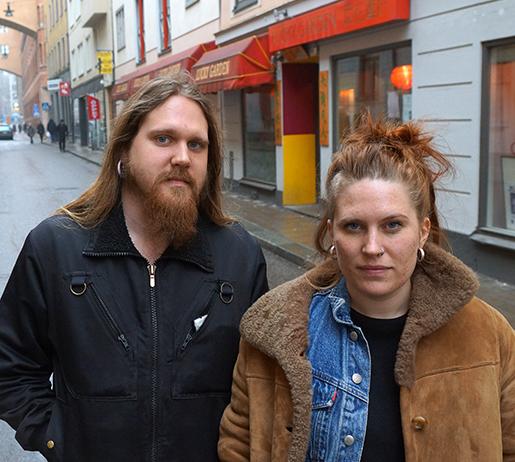 Anton Klepke och Kajsa Olsson. Foto: Erik de la Reguera