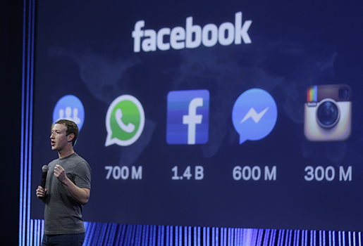 Facebooks vd Mark Zuckerberg talar i San Francisco. Foto: AP Photo/Eric Risberg