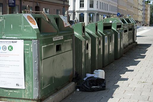 STOCKHOLM 20150705 : ≈tervinningsstation pUpplandsgatan i Stockholm. Foto: Maja Suslin / TT / Kod 10300