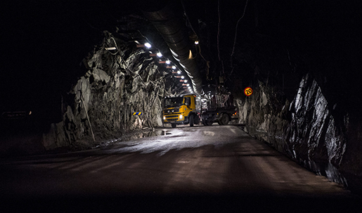KIRUNA 2014-03-27 Gruvan den 27 mars 2014 i Kiruna d‰r LKAB pÂbˆrjat brytningen pen ny huvudnivp1 365 meter, i v‰rldens stˆrsta underjordsgruva fˆr j‰rnmalm. Foto: Per Larsson / TT / kod 11390