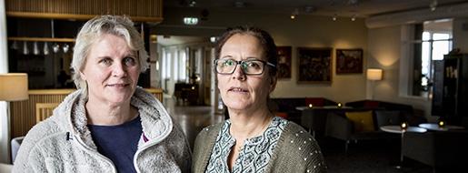 - Att höra om andras problem och lösningar är en stor behållning med att åka på kurs, konstaterade kollegerna Kicki Ek och Mia Persson. Foto: Christine Olsson