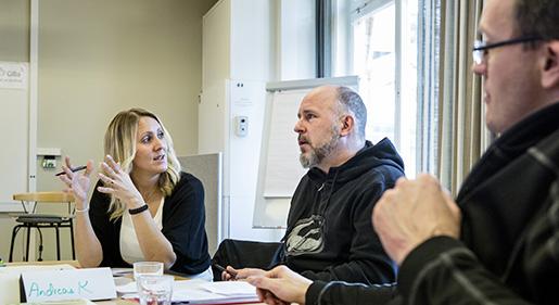 Sandra Arnvind, Andreas Kindmark och Jimmy Kihlström ser en behållning i att ha lärt sig arbeta mer förebyggande. Foto: Christine Olsson
