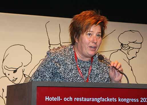 VISBY 20141108 Avtalssekreterare Malin Ackholt. Hotell- och restaurangs kongress photellet Visby Strand i Visby. FOTO: Tobias Wallstrˆm / TT / kod 11130