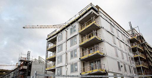 STOCKHOLM 20151230 Flerfamiljshus byggs i Norra DjurgÂrdsstaden Foto: Christine Olsson / TT / Kod 10430