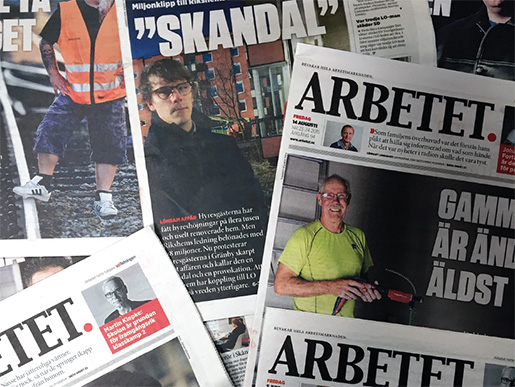 I manligaste laget. Under 2015 sjönk andelen kvinnor som kom till tals i Arbetet. Foto: Anders Emretsson