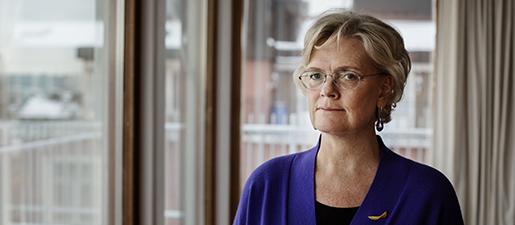 Svenskt Näringslivs vd Carola Lemne propagerar för lägre ingångslöner. Själv tjänar hon 490000 kronor i månaden. Foto: Anders Ahlgren/TT