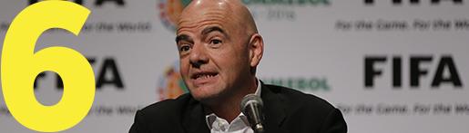 FIFA:s nyvalde president Gianni Infantino. Foto: AP Photo/Jorge Saenz