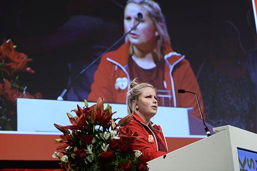 STOCKHOLM 20150425 TherÈse Gunnarsson fotad pHandels kongress i ƒlvsjˆ 2016. Foto: Maja Suslin / TT kod 10300