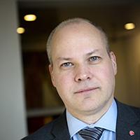 Morgan Johansson, 45 år. Justitie- och migrationsminister. Ordförande för Lunds S-studenter 1991.