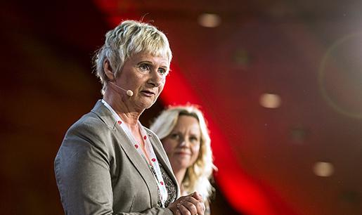 ÷REBRO 2016-03-12 Lena Micko ordfˆrande SKL och Katarina Berggren bitr‰dande partisekreterare ˆppnade Socialdemokraternas kommunkonferens i ÷rebro plˆrdagen. Foto: Per Knutsson / TT / Kod 11380