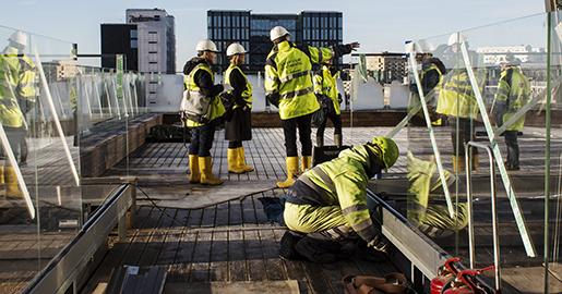 STOCKHOLM 2016-02-04 Byggnadsarbetare ptaket till nya hotellet Scandic Continental som ˆppnar 1 april. Foto: Anders Ahlgren / SvD / TT / Kod: 71756 ** OUT DN och Dagens Industri (‰ven arkiv) och Metro **