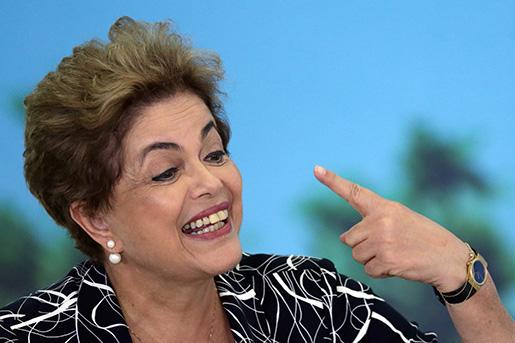 Brasiliens president Dilma Rousseff. Foto: AP/Eraldo Peres