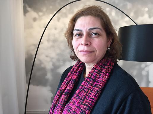 Fatima da Silva är internationell sekreterare för lärarfacket CNTE.