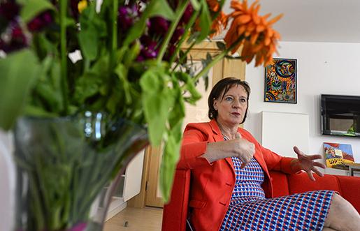 –Allra mest nöjd är jag med att vi vände tappet av antalet medlemmar, säger Annelie Nordström som lämnar ordförandeposten I Kommunal vid kongressen nästa vecka.Foto: Anders Wiklund/TT