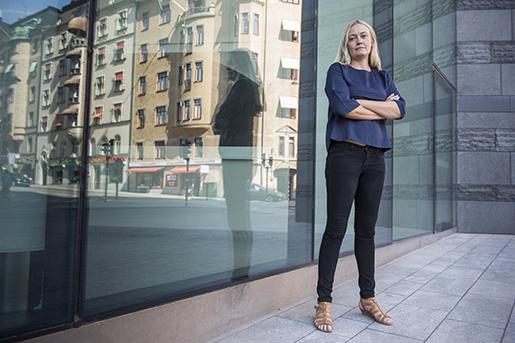 STOCKHOLM 2016-05-23 Madelene Engman blir fˆrsta kvinna i fackfˆrbundet GS fˆrbundsledning och blir en av ytterst fkvinnliga avtalssekreterare inom LO. Foto: Erik Nylander / TT / kod 11540