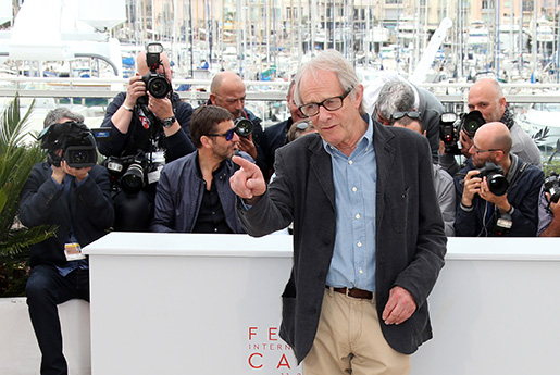 Director Ken Loach poses for photographers, during a photo call for the film I, Daniel Blake at the 69th international film festival, Cannes, southern France, Friday, May 13, 2016. (AP Photo/Joel Ryan)