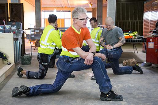 – Jag har gamla krämpor som jag försöker lindra med gympan, säger Jerry Johansson. Foto: Emil Langvald/TT
