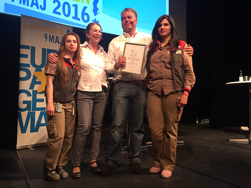 Från vänster: Dyana Zaia, Rosie Rothstein, Jonas Berg och Shahad Hassan. Foto: Erik Larsson