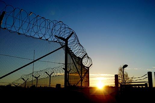 NORRTƒLJE 030108 Exteriˆrbild frÂn gÂrden pNorrt‰lje kriminalvÂrdsanstalt. Foto: Jessica Gow Kod 1070 COPYRIGHT SCANPIX SWEDEN