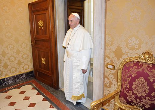 ROM 20150427 PÂven Franciskus i Vatikanen i Rom, i samband med svenska kungafamiljens besˆk. Foto: Henrik Montgomery / TT / kod:10060