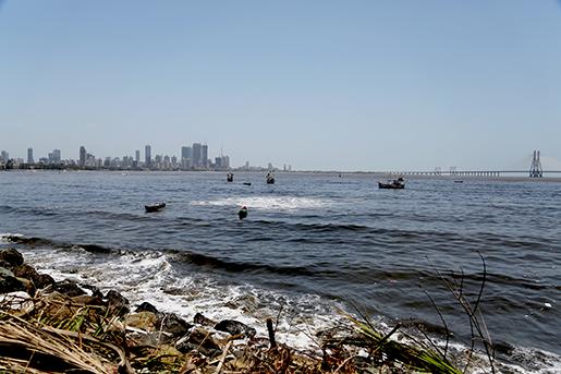 Mahim-bukten i Bombay.