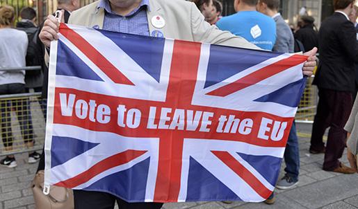 """LONDON 20160624 """"ƒntligen frihet och demokrati"""" s‰ger Simon Richards som rˆstade fˆr brexit. Foto: Sofia Eriksson / TT / kod 1051"""