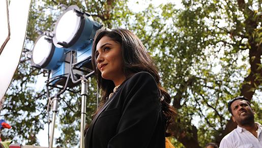 "Tridha Choudhury är stjärnan i TV-serien ""Dahleez""."