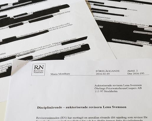 Inte mycket av Revisorsnämndens handlingar går att läsa – det mesta är sekretessbelagt. Men att det är problematiskt att revisor Lena Svensson tappat bort dokument som rör bolaget Lyran och krogen Metropol Palais, det är nämnden öppen med.Foto: Carl von Scheele
