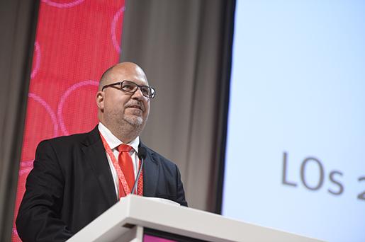 STOCKHOLM 20160617 LO-ordfˆranden Karl-Petter Thorwaldsson inledningstalar pLO-kongressen pfredagen. Foto: Vilhelm Stokstad / TT / Kod 11370