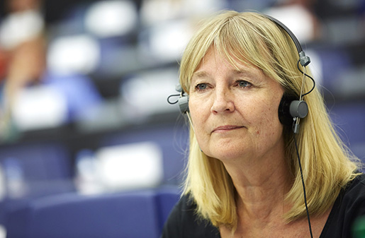 STRASBOURG 20140715 Marita Ulvskog (S) i Europaparlamentet i Strasbourg. Foto: Fredrik Persson / TT / kod 75906
