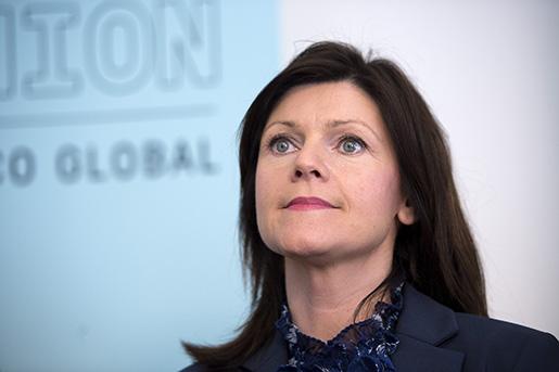 STOCKHOLM 20150507 : LO,TCO och Saco bildar bistÂndsorganisationen Union to Union. Eva Nordmark, ordfˆrande TCO. Foto: Maja Suslin / TT / Kod 10300