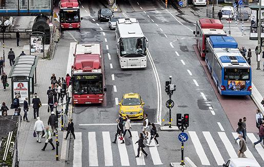STOCKHOLM 2015-09-22 ÷versikt ˆver busstrafiken vid Slussen Foto: Tomas Oneborg / SvD / TT / Kod 30142 ** OUT DN och Dagens Industri (‰ven arkiv) och Metro**