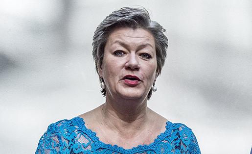 Arbetsmarknads- och etableringsminister Ylva Johansson (S). Foto: Henrik Montgomery/TT