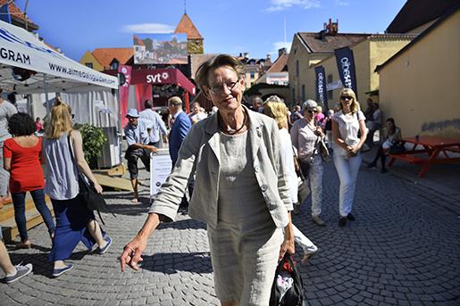 VISBY 2016-07-07 Gudrun Schyman i Visby. Foto: Henrik Montgomery / TT / kod 10060