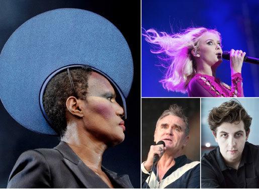 Grace Jones, Zara Larsson, Morrissey och Jamie XX drar västerut. Foto: TT-bild