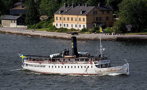 Personalen på ångfartyget Storskär har utsatts för rena trakasserierna, hävdar Seko. Foto: Christine Olsson
