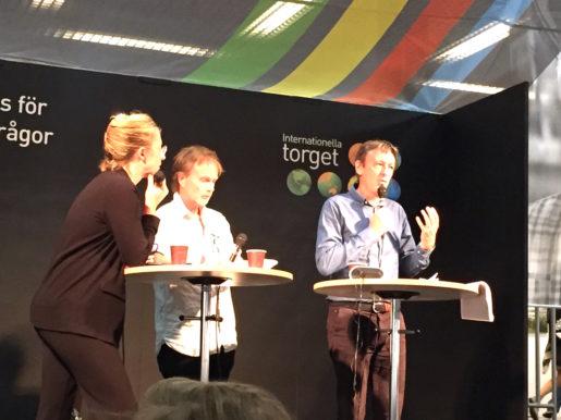 Journalisten Mats Wingborg diskuterade den svenska resejournalistiken med resetidningen Vagabonds Per J Andersson under ett seminarium på Bokmässan i Göteborg som anordnades som anordnades av Union to Union.