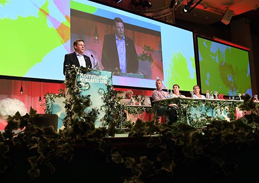 Kan Kommunals ordförande Tobias Baudin vända trenden med tappade medlemmar? Foto: Marcus Ericsson/TT