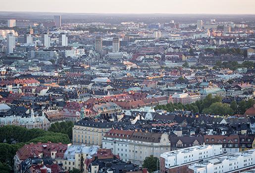 STOCKHOLM 20150612 Flygbild ˆver Stockholm tagen frÂn en helikopter. Vy ˆver ÷stermalm. Foto: Christine Olsson / TT / Kod 10430