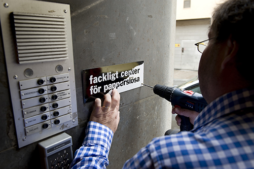 STOCKHOLM 200800903 Ett fackligt center fˆr papperslˆsa invigdes i centrala Stockholm ponsdagen. Foto: Anders Wiklund / SCANPIX / kod 10040
